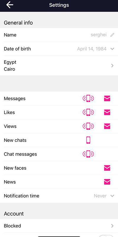 Chance settings app
